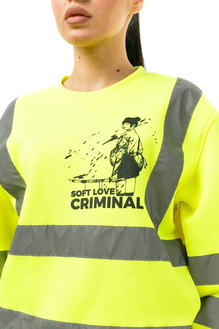Свитшот SOFT LOVE CRIMINAL yellow